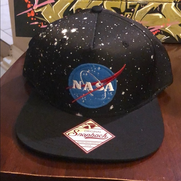 3c4c7663b9513 NASA space SnapBack Hat Cap New galaxy black logo